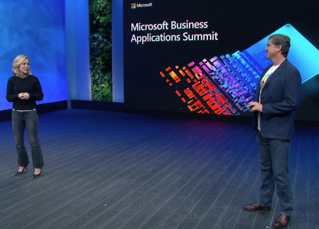 Two people spealing at the Microsoft Business Applications Summit